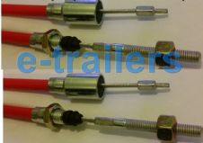 1630mm STAINLESS STEEL KNOTT STYLE DETACHABLE TRAILER BRAKE CABLES THREADED x2